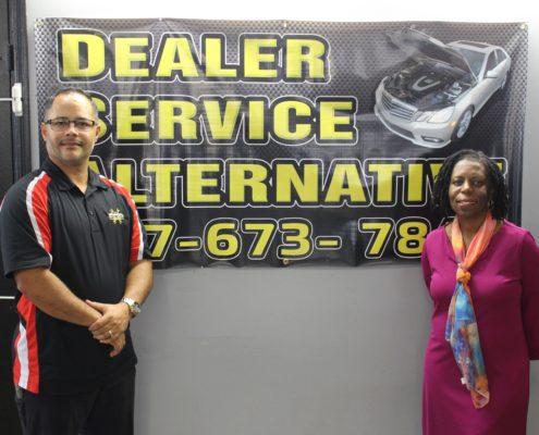 Alex Aviles; Pauline Davis; Dealer Service Alternative;