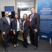 L-R: Michael Myhre, CEO of the Florida SBDC Network; U.S. Congresswoman Stephanie Murphy; and Elizabeth and Bob Burch at the 2018 Client Showcase and Reception