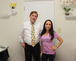 FSBDC at UCF Consultant Chuck Wheeler with WaxMe Owner Desiree Aviles