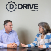 Bill Payne of Drive Group, LLC with Maggie Incandela of the FSBDC at DSC