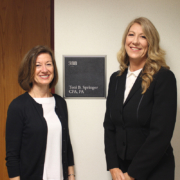 FSBDC Consutlant Lisa Reineck with Toni B. Springer